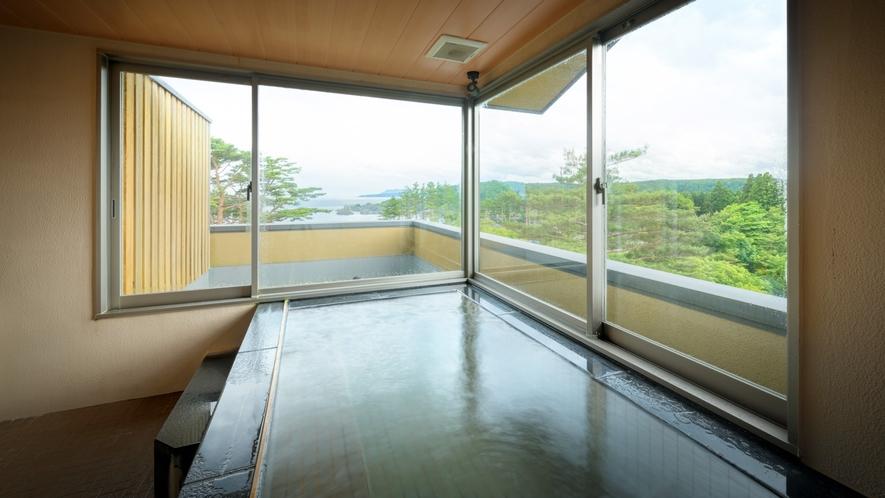 【貸切風呂】天望風呂・内湯/内風呂ながらも眺望は抜群のプライベート空間 ※温泉ではございません