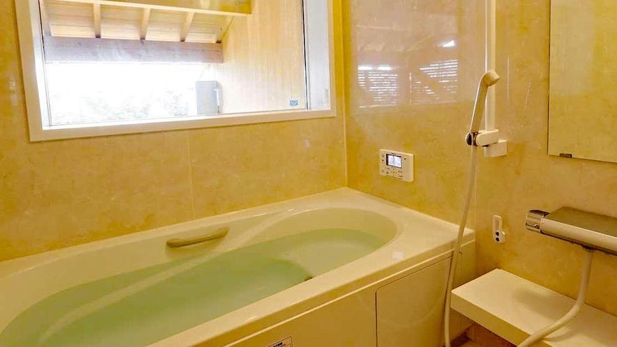 【離れ・三郎の庵】16帖の露天風呂付きモダン和洋室◆内風呂と露天風呂があります※温泉ではございません