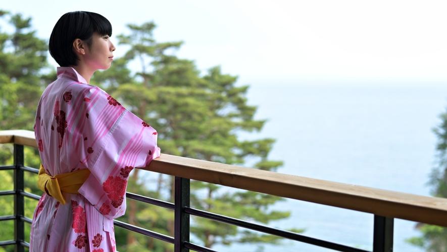 【次郎の庵3階イメージ】 三陸の海を眺めながら、贅沢なひとときをお過ごしください。