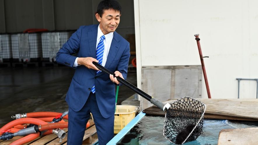 【その他】たろう庵では、田老漁港に専用の「いけす水槽」があり、 新鮮な海産物を適切に管理しています。