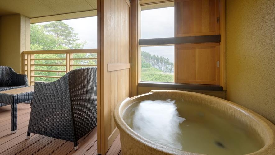 【本館・たろうの庵】8帖+6帖の露天風呂付きモダン和室 ※温泉ではありません