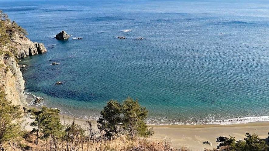 【沢尻海岸】トレイルコースからの眺め