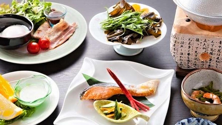 【ご朝食一例】季節の地物海鮮しゃぶしゃぶ(時季・仕入状況により変更します)