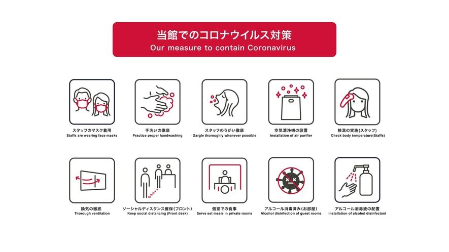 ■渚亭たろう庵/コロナウイルス感染拡大予防の取り組み