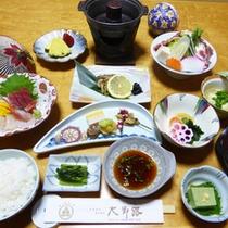 *【夕食例】一品一品、丁寧に仕上げた和食膳をご用意いたします。