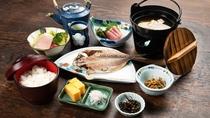 *【ご朝食一例】和食/沼津港名産の干物やお刺身をご提供します