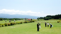 *【パターゴルフ】雄大な富士山と箱根の山々を見ながらゆっくりとプレーを満喫して下さい。