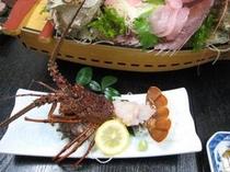【夕食一例】 伊勢海老のお造り