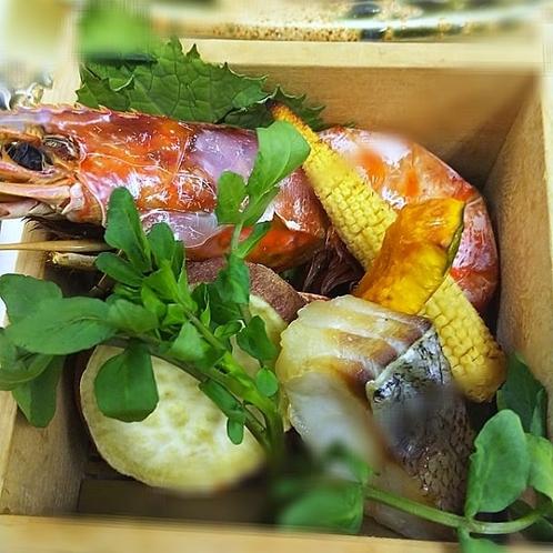 若竹荘料理の一例