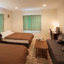 1階寝室 ツインルーム (寝室は4つ、10名様宿泊可)