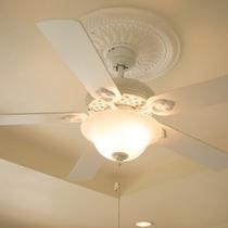 天井のシーリングファンがアメリカンな雰囲気