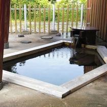 *桜ヶ池温泉「桜湯」湖面を見ながらのんびり露天風呂。。