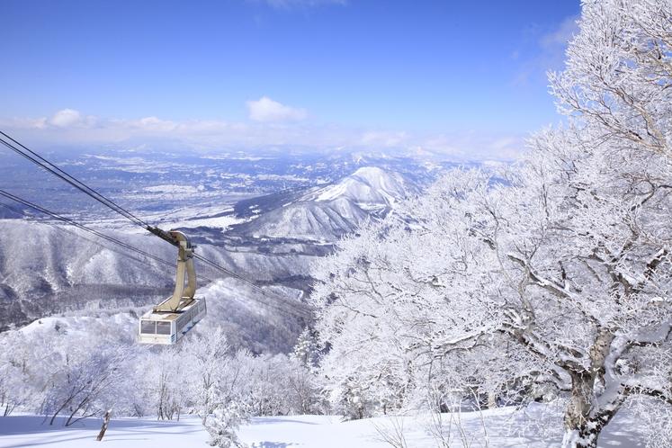 竜王スキーパークとロープウェイ