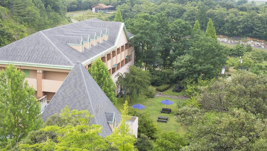 ◆上空から見たホテルの外観