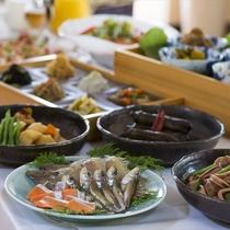 ◆丹後の山海の幸を使ったお料理