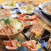 冬味覚を味わうカニ土鍋コース