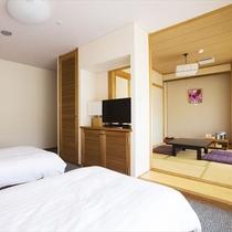 ◆和洋室(ベッド2台+座敷)