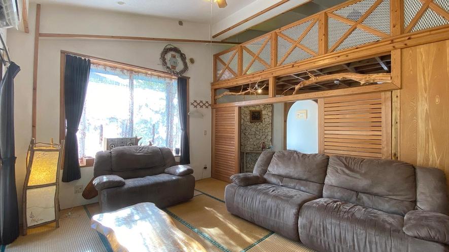 ・Cottage Aリビングルーム プライベート空間をご満喫ください