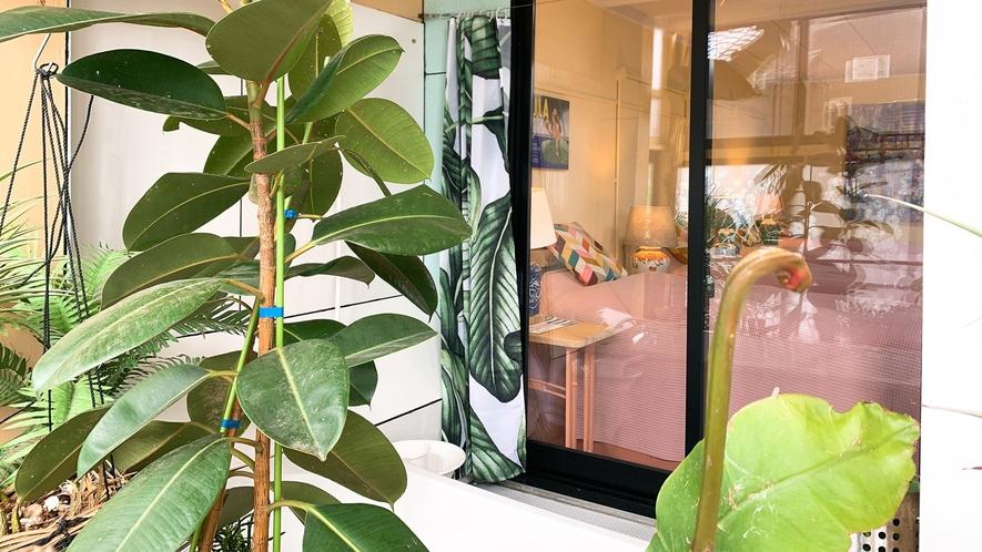 【2021年リニューアル】一階、Greenバナナ、専用庭付き客室(禁煙)