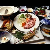 三元豚と那珂川のアユ料理一例☆