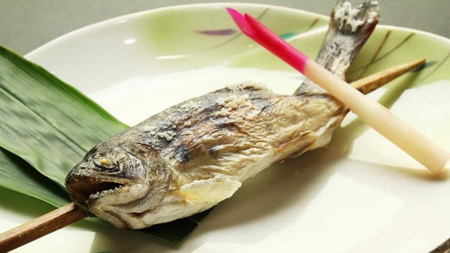 ■食事-鮎の塩焼き