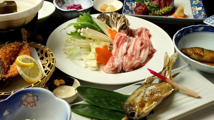 ■三元豚と那珂川のアユ料理一例☆