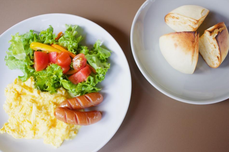 ロッジきよかわ自慢の朝食です