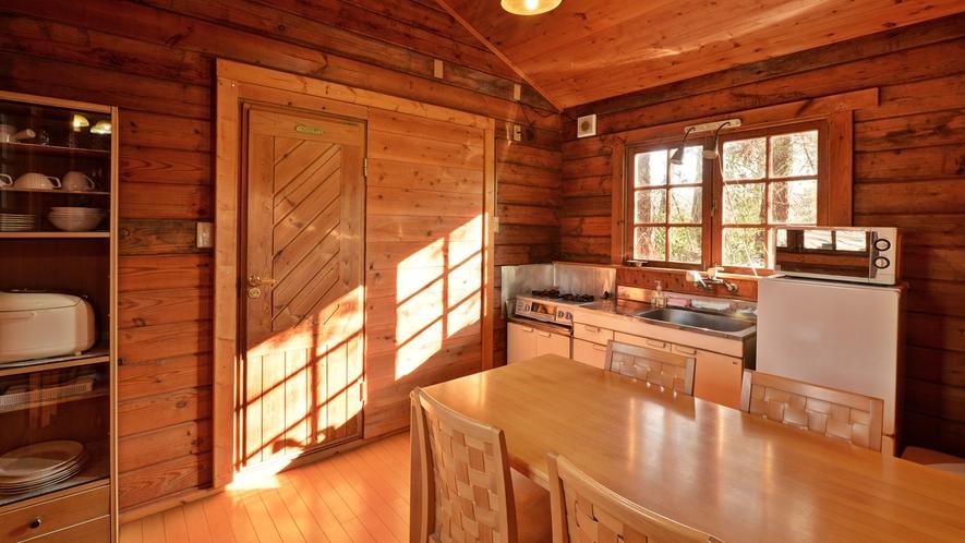 *【コテージ/ベル】キッチンは家庭用になっておりますので、手軽にお料理が作れます。