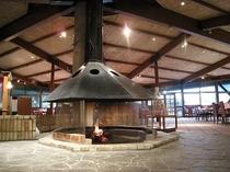 レストラン暖炉