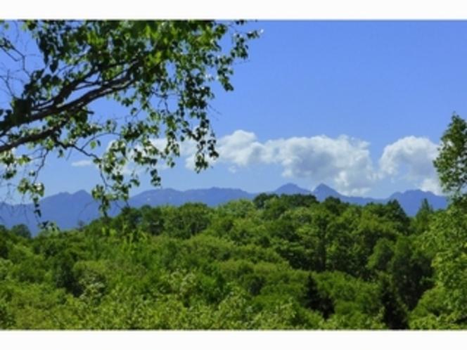 山側の客室から眺める八ヶ岳