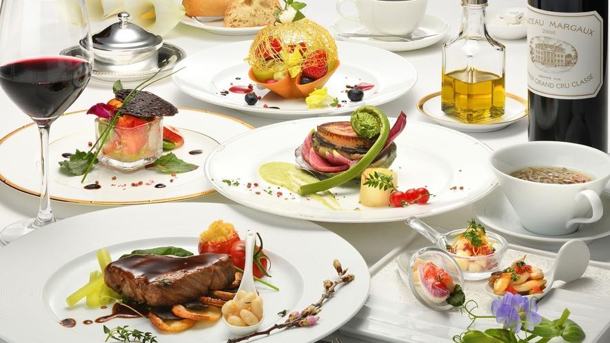 【プレミアムフレンチ】高級食材をふんだんに使用した王道フレンチフルコース。(一例)
