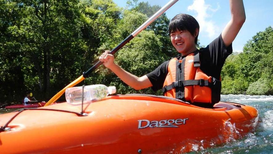 <夏>【小野川湖カヌー】しぶきを浴びて楽しもう。