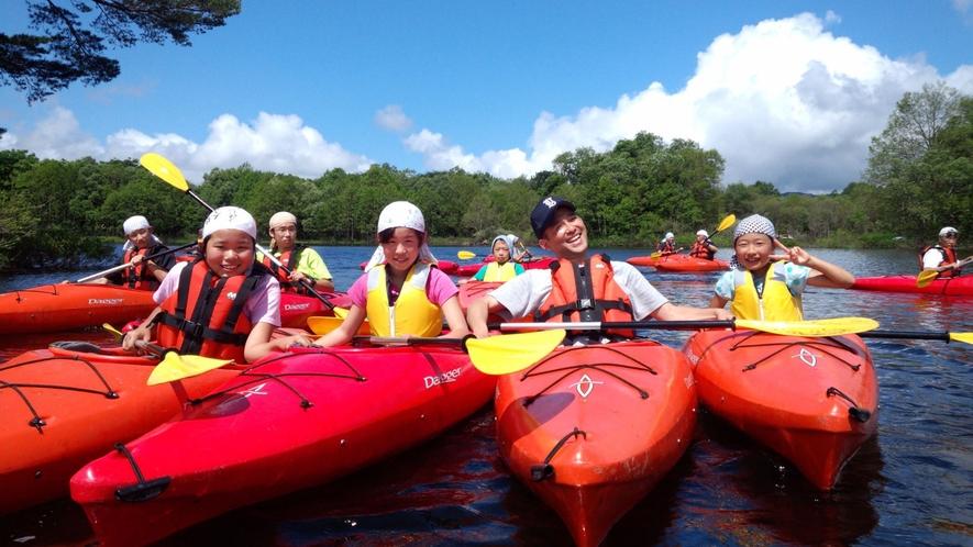 <夏>【小野川湖スプラッシュレイクカヌー】しぶきを浴びて楽しもう。小学生でも安心!