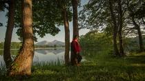 【曽原湖】裏磐梯の湖としては小さいが、林に囲まれた、どこから見ても美しい人気の湖。