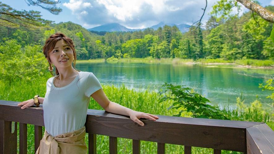 【五色沼】自然探勝路は、全長約3.6km。片道約1時間30分程度。比較的平坦なハイキングコース。