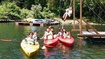 <夏>【カヌー&ターザンプラン】カヌーで桧原湖無人島巡り!ターザンロープやコロコロ滑り台で水遊び満喫