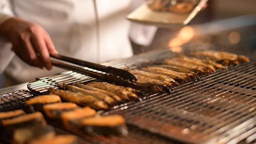 【バイキング】朝食は焼き魚をご用意♪