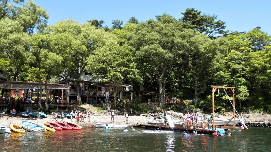 <夏>【いかだ作りdeトムソーヤ体験プラン】いかだを自分で作り、桧原湖へ漕ぎ出すトムソーヤ体験!