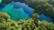 【五色沼】最も大きな沼「毘沙門沼」。手漕ぎボートを楽しむことができます。