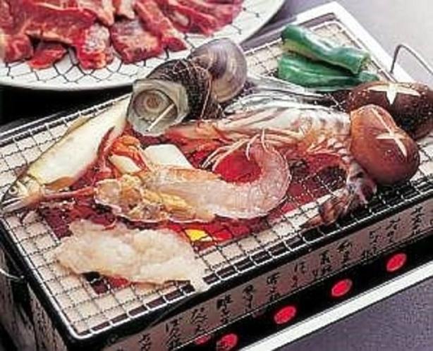 夕食特別メニュー・海鮮炭焼き