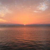 当館からの夕日