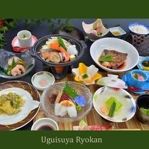 夕食の一例『海鮮陶板焼会席』