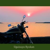 【ツーリング応援】 島原半島の絶景をバイクで満喫☆長旅の疲れは温泉でゆっくり癒す♪ビール1本付