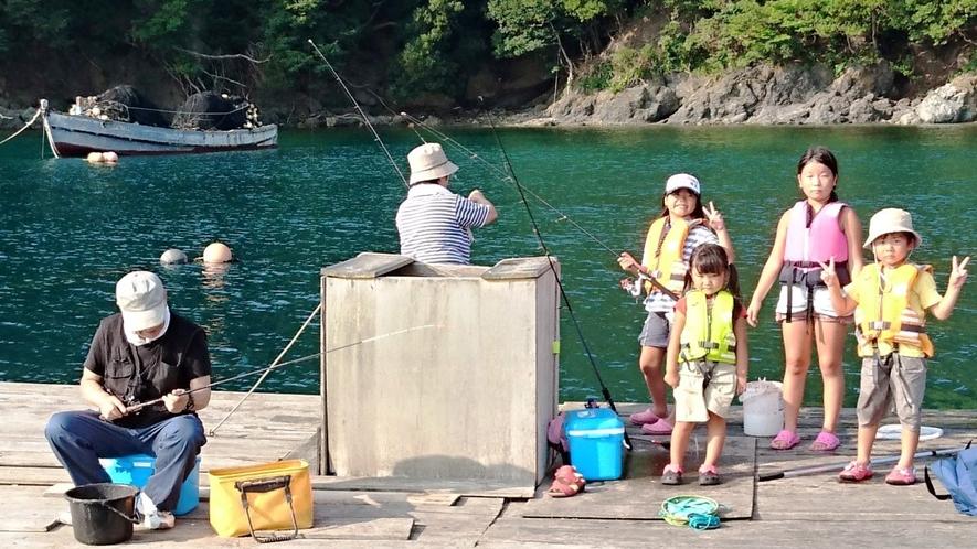 筏釣りの様子♪