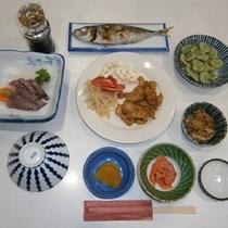 夕食(お魚付)