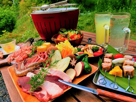 【地産食材盛りだくさん!】やどり温泉自慢のグレードアップバーベキュープラン