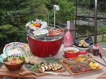 地産食材にこだわるやどり温泉イチオシのゴージャスバーベキュープランです♪