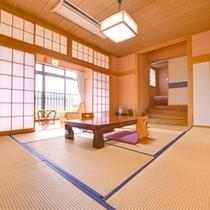 *特別室「愛ちゃん」/8畳+4.5畳の二間続きの広々とした客室です。