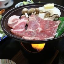*夕食一例/豚肉の陶板焼き