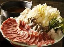 宿オリジナルの味噌を使った人気の猪鍋です!!